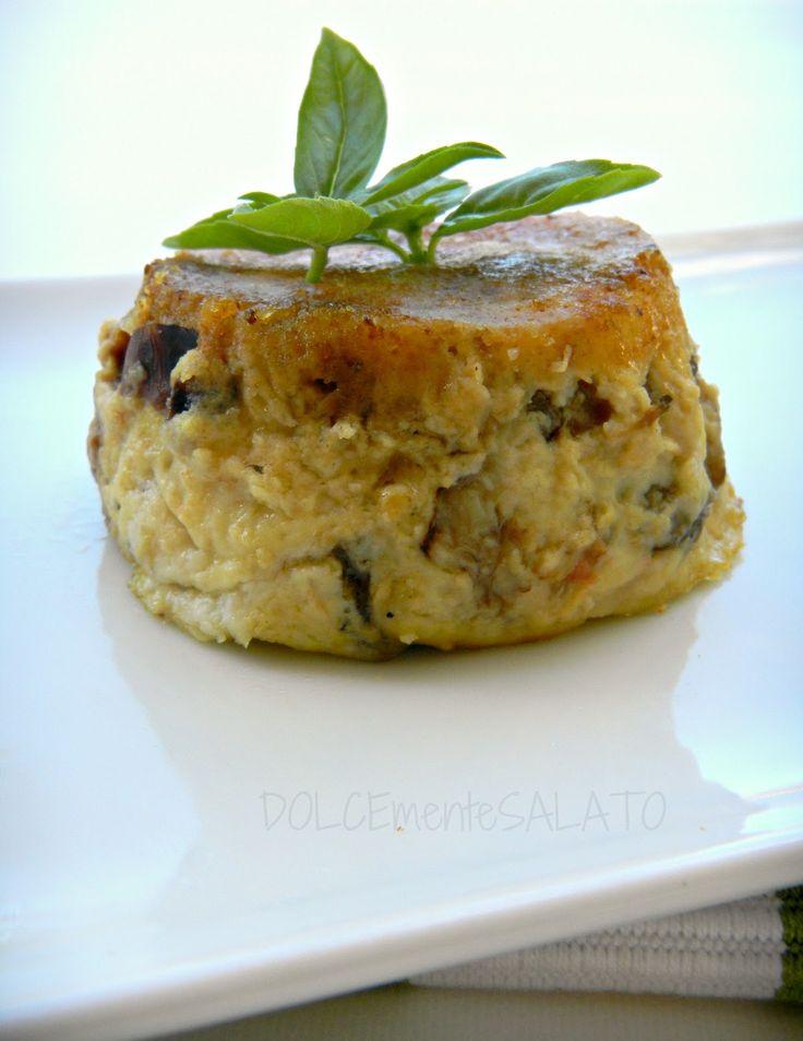 DOLCEmente SALATO: Timballini cremosi con melanzane ed erbe aromatiche