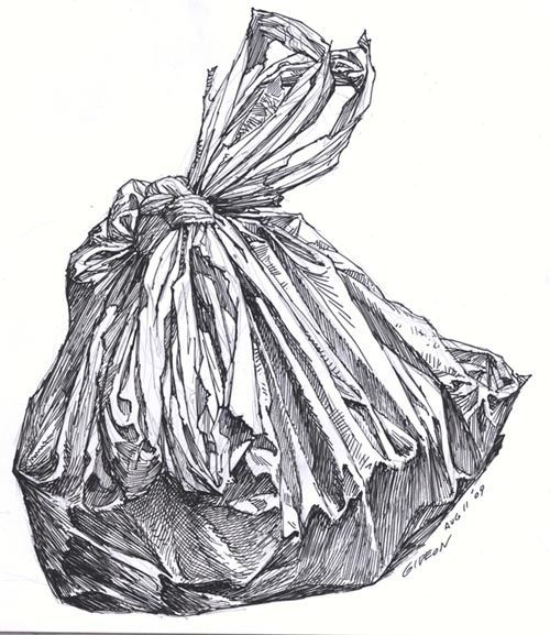 """Waste"" ` Good idea for homework or observational drawing."