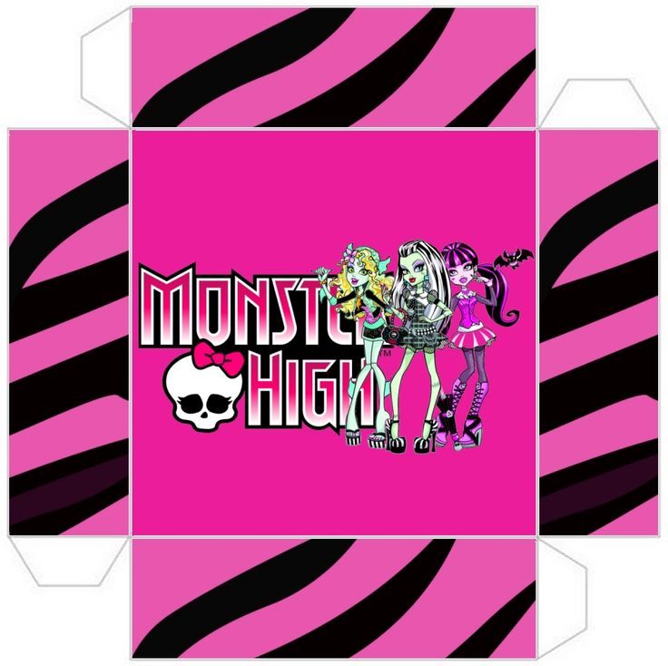 Monster High Party Printables | Monster High: Party Favor Boxes Free Printables.