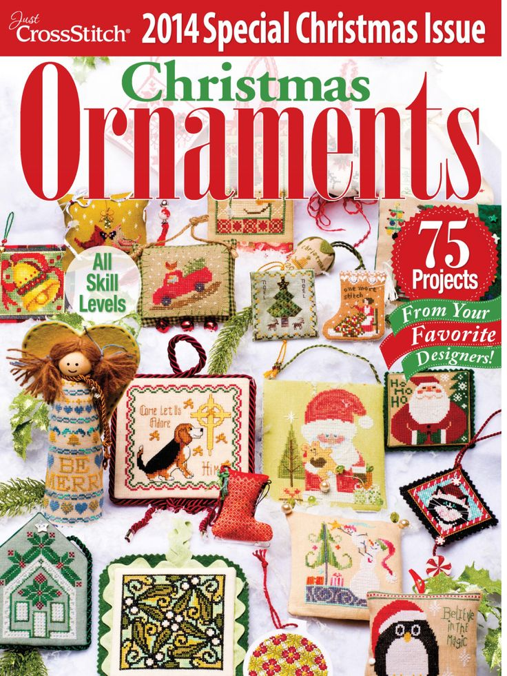 Just Cross Stitch Christmas Ornaments 2014 Issue Full Magazine