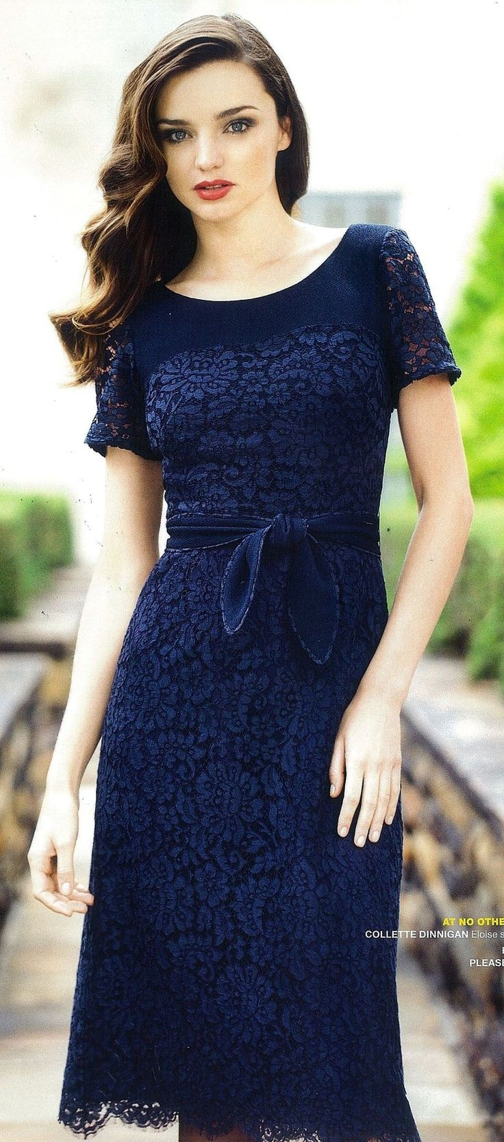 Blue Lace Dress <--- @Emilie Claeys Murphy ,  keep finding  the PERFECT clothes! Classy and Chic www.adealwithgodbook.com