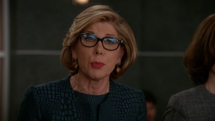 Burberry Square Optical Frames Eyeglasses inspired by Diane Lockhart in The Good Wife Season 7 Episode 18 | TheTake