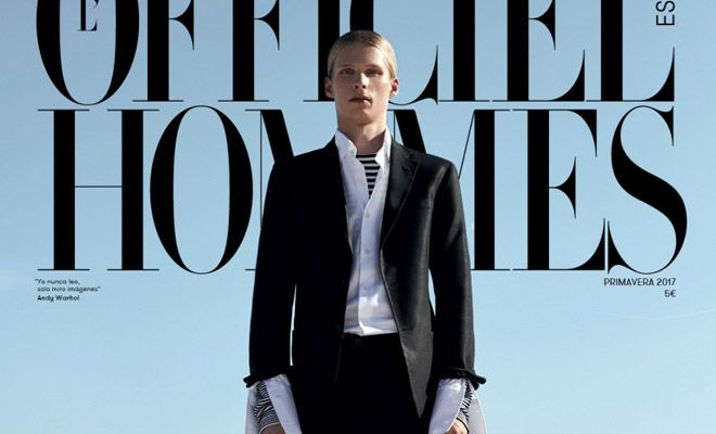 Taavi Mand is the Cover Boy of L'Officiel Hommes Spain Spring 2017 Issue