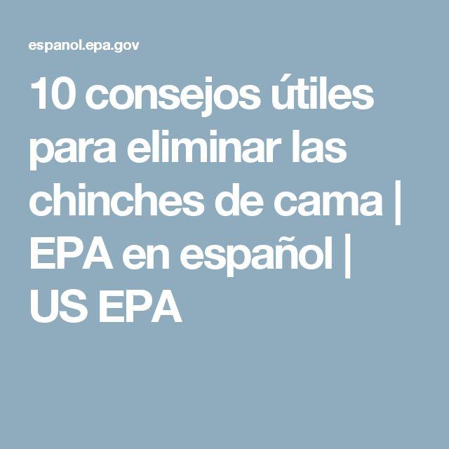 10 consejos útiles para eliminar las chinches de cama | EPA en español  | US EPA