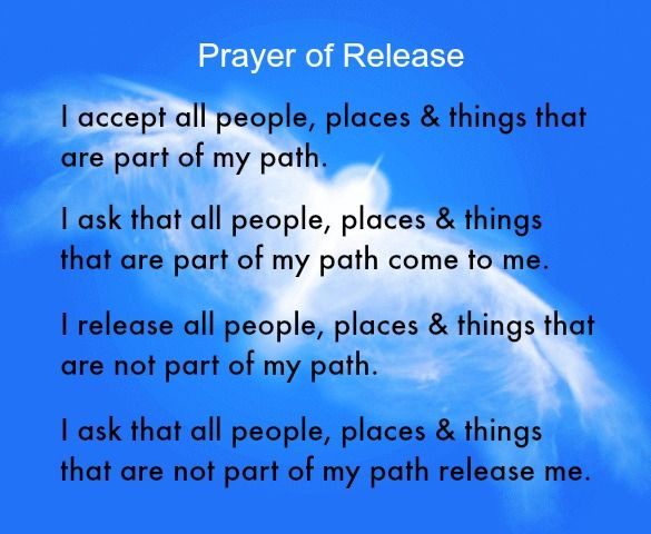 Prayer of Release (for help with letting go) http ...