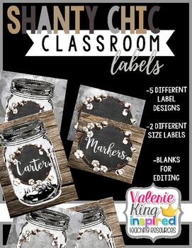 Shanty Chic Collection: Classroom Labels