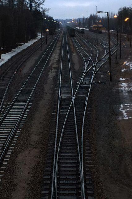 Train tracks, Finland.