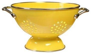 Reston Lloyd Enamel/Steel Colander, Lemon - contemporary - Colanders And Strainers - Target