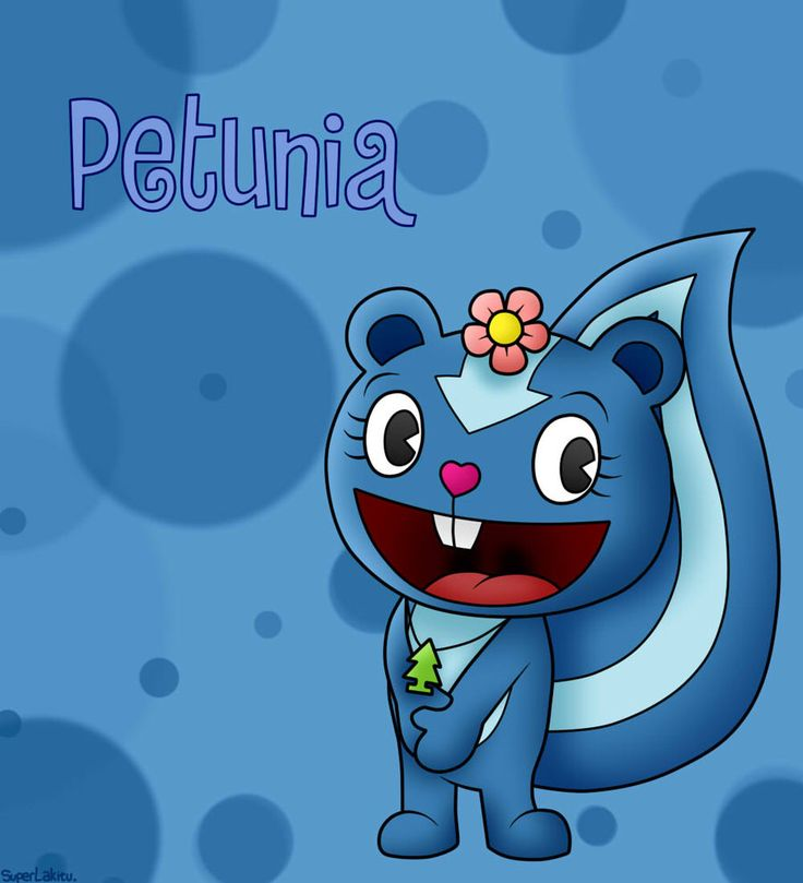 Petunia is a skunk, she is very kind and cute but she, like most characters, has a problem. She can't stand things that aren't clean. One little spot of dirtyness and she freaks out. And when she freaks out it means it's cleaning time and that causes problems.