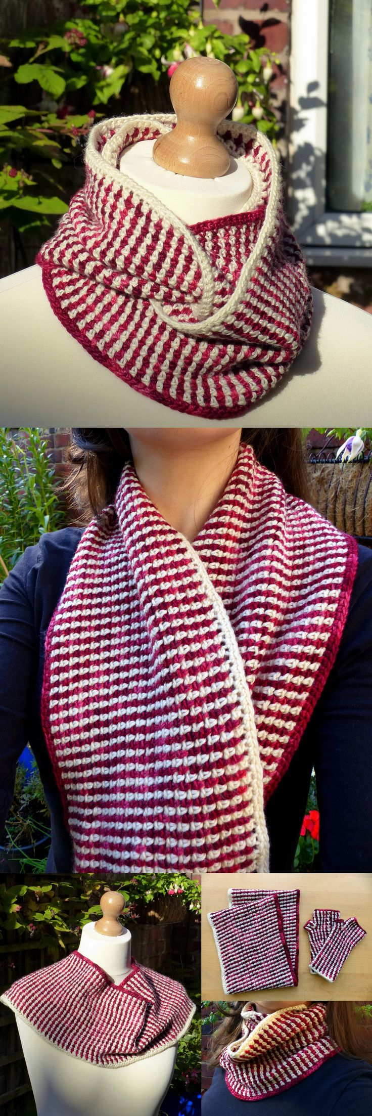 Linen Stitch Cowl – a free crochet pattern from Make My Day Creative – so easy, no ends!