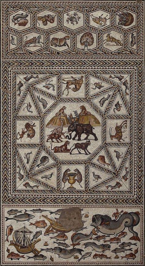 Véronique Chemla: Entre terre et mer. L'extraordinaire bestiaire de la mosaïque romaine de Lod. www.decorarconarte.com