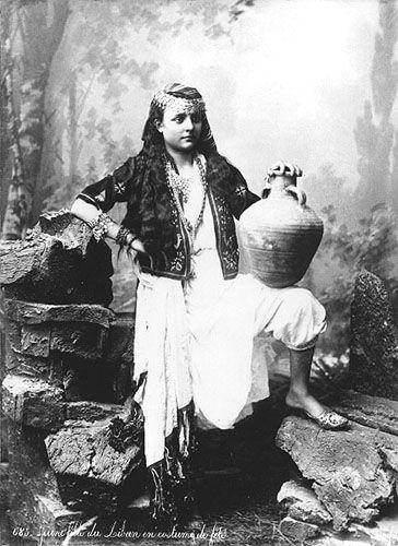 Young Lebanese Woman [1880s] | Copyright Bonfils
