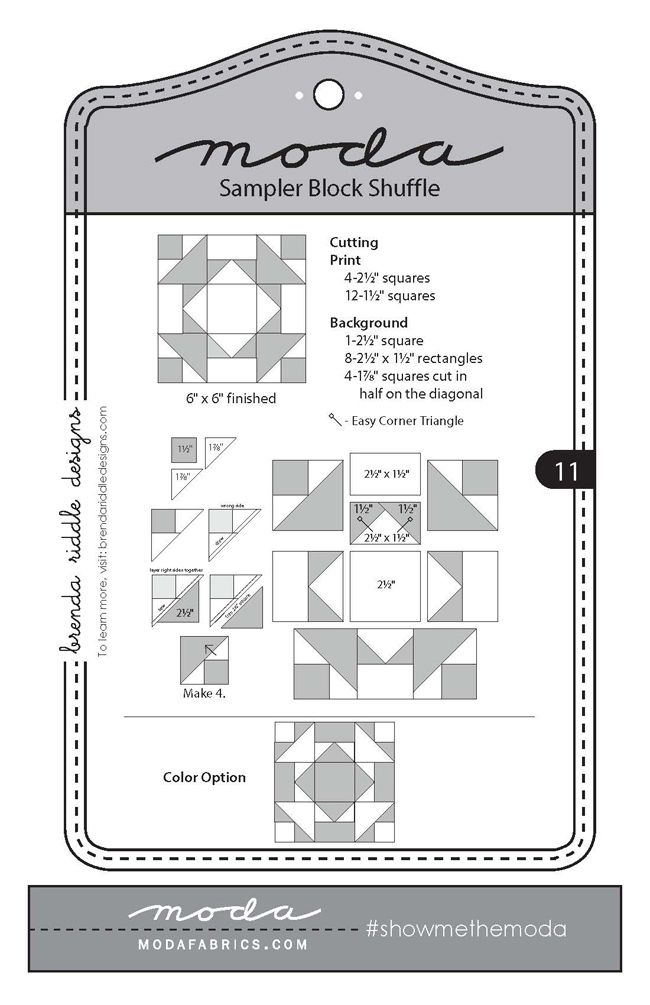 Fort Worth Fabric Studio: Moda Sampler Block Shuffle {Block 11}