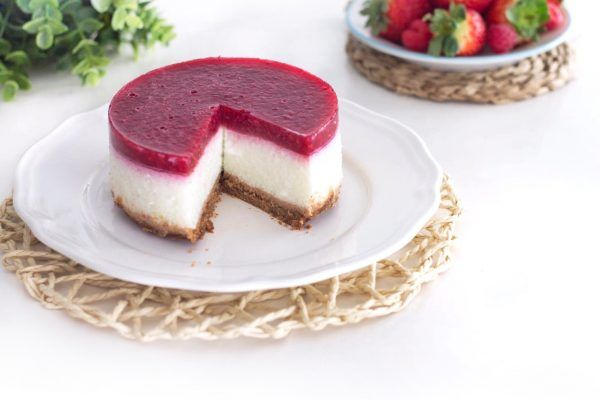 Tarta de queso light sin horno - Fit Happy Sisters - fithappysisters