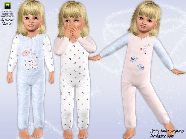 The Sims Resource - TSR Pretty Birdy sleepwear by Minicart ...