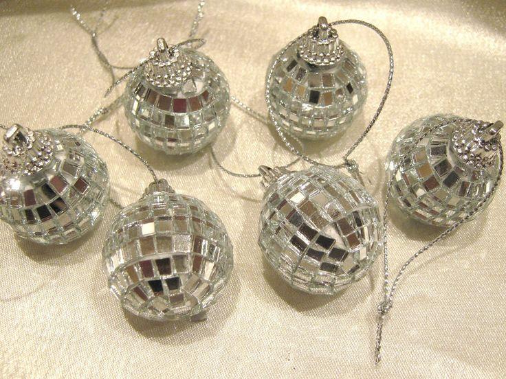 Christbaumkugeln,Partykugel, Spiegelkugel, 6 Stück ca. 3cm Durchmesser