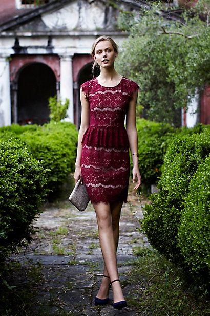 #ElsaPeplumDress #Anthropologie #Lace #Maeve