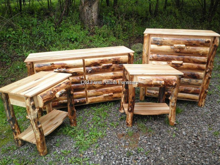56 Best Images About Aspen Log Furniture Amish Pa On Pinterest Mattress Log Bar Stools And