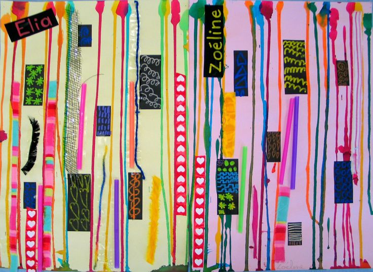 lignes verticales et collage
