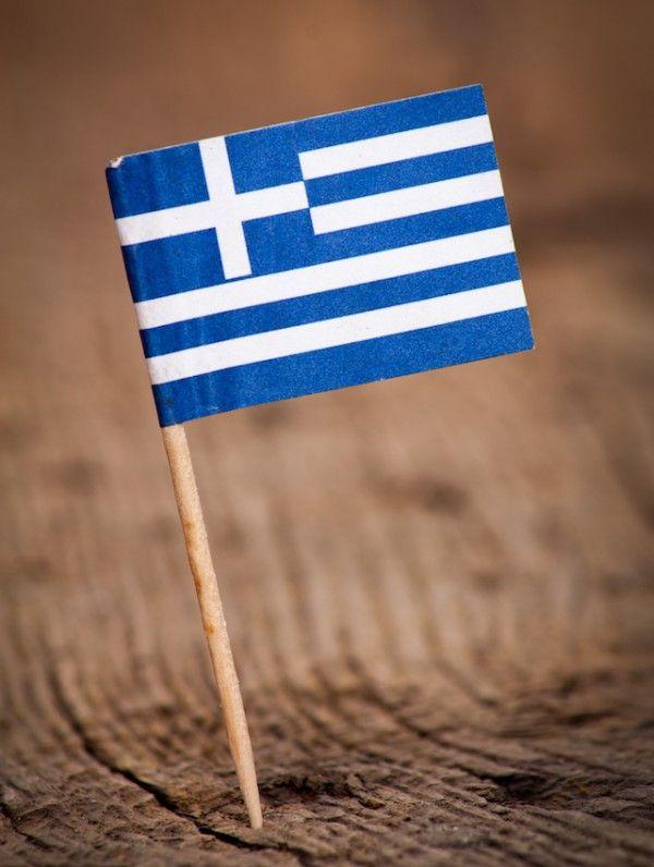 Drapeau grec - Que ramener de #Grèce #souvenirs