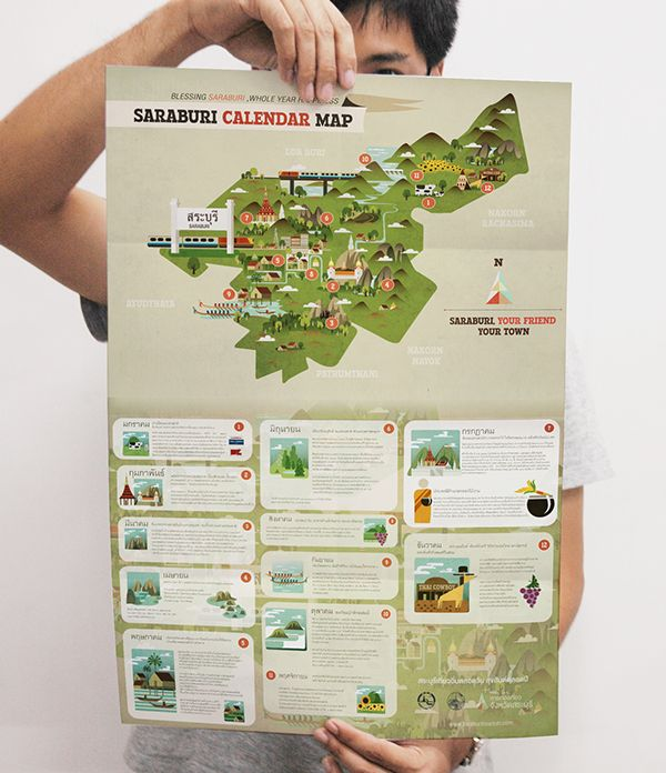 Guide to Saraburi on Behance