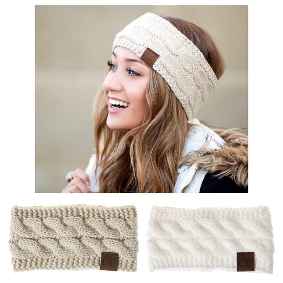 Your Choice Hand Knitted WIDE WINTER HEADBAND Ready to Ship