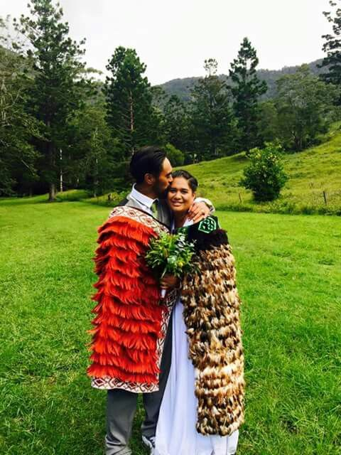 New Zealand korowai. Maori cloak. Wedding ideas. Brown skin.