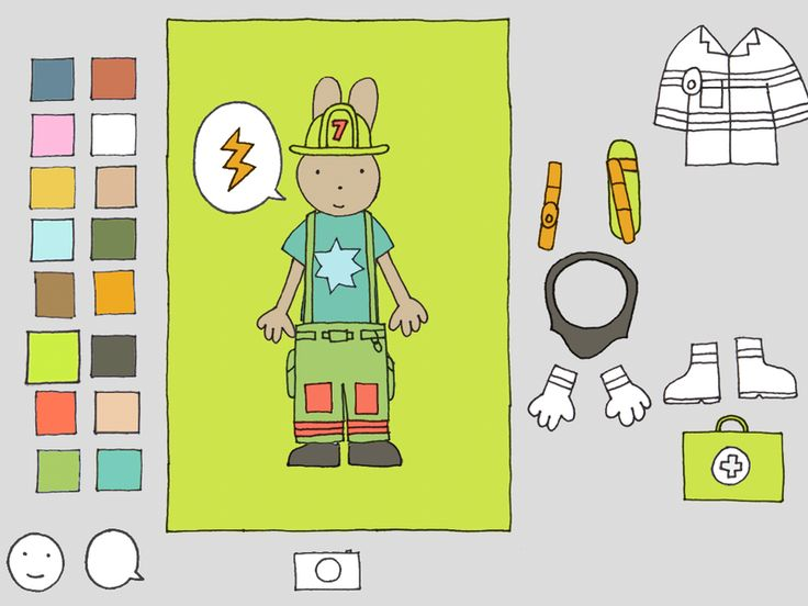 color me a firefighter with this fabulous educational app for kids - Coloring Apps For Kids