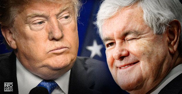 Opportunist Newt Gingrich Despises Donald Trump  Print	The Alex Jones Channel	Alex Jones Show podcast	Prison Planet TV	Infowars.com Twitter	Alex Jones' Facebook	Infowars store Former Speaker compares himself to a pirate attacking the system That should not surprise anyone.  He is a globalist.