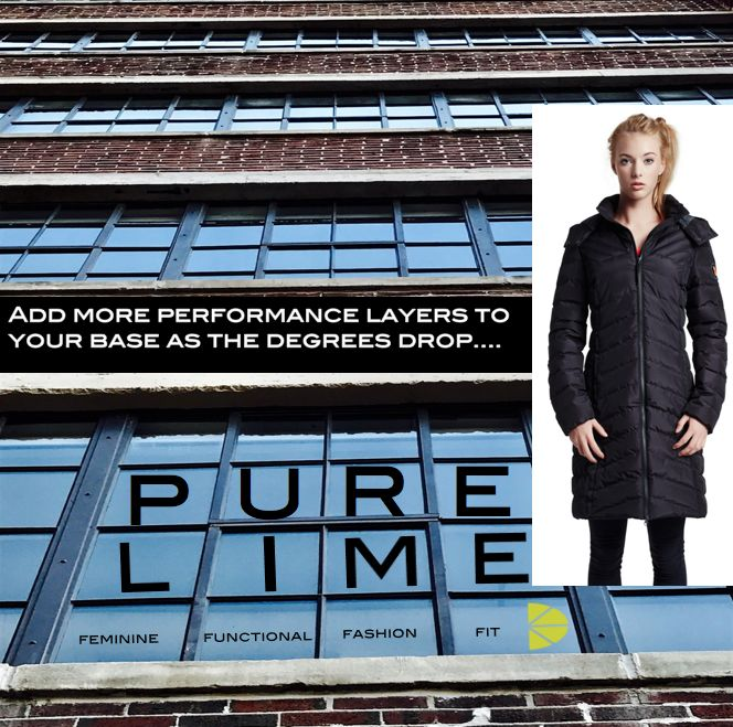 Stay warm with this hooded shaped coat from Pure Lime...