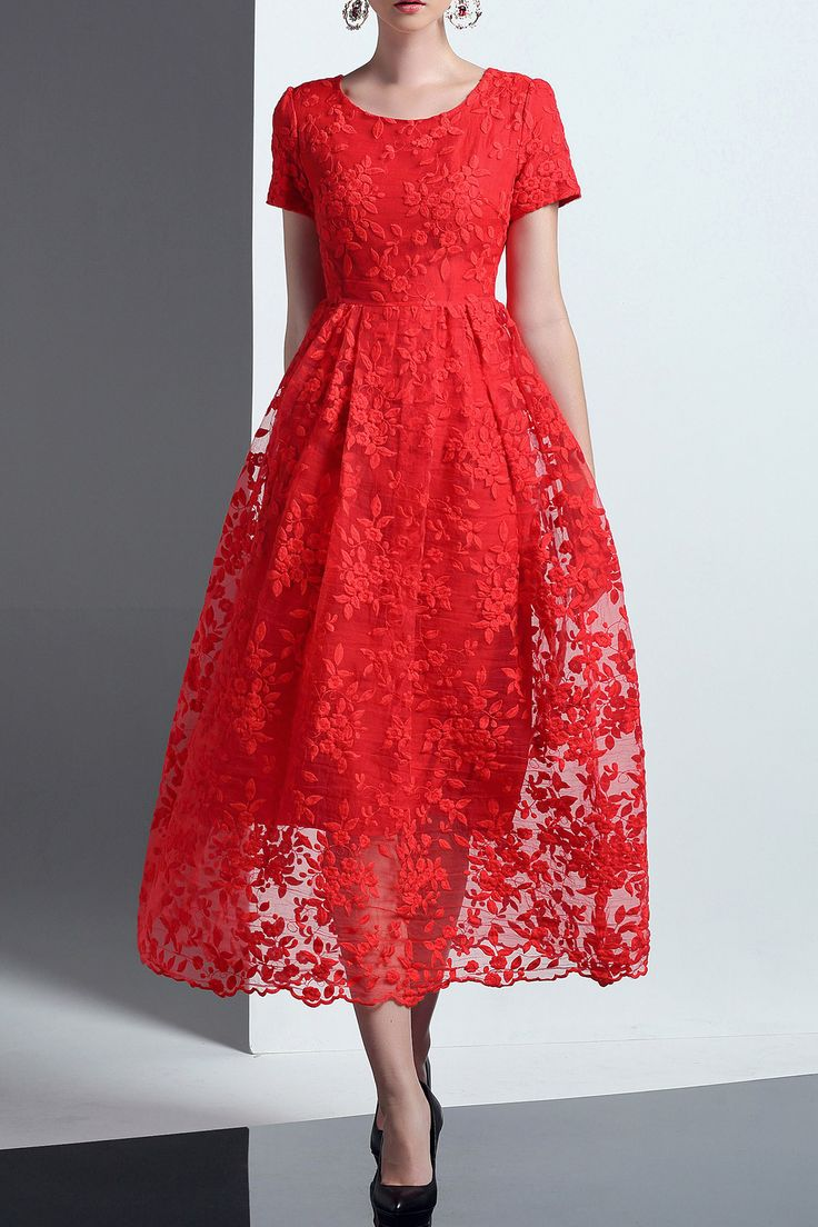 A Line Lace Formal Dress