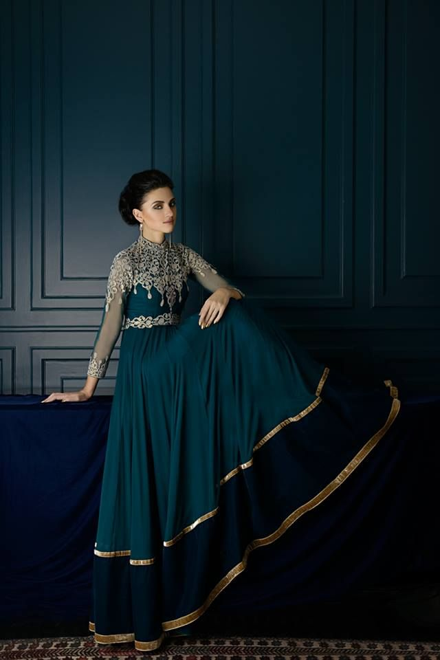 this beautiful anarkali dress would be great for going to a wedding or reception, leave your audience lovestruck