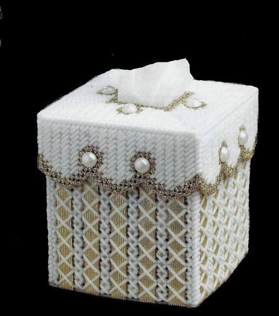 Elegant Boutique Size Tissue Box Cover GOLD by NiftyStitches4U, $17.50