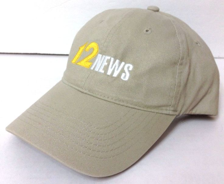 CHANNEL 12 NEWS HAT Khaki Relaxed-Fit Cotton Ball Cap Television Cincinnati Ohio #Unbranded #BaseballCap