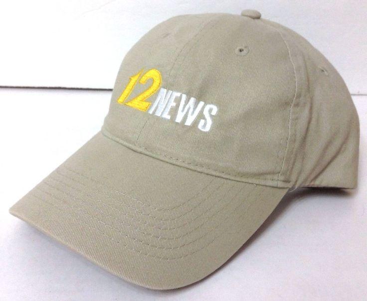 CHANNEL 12 NEWS HAT Khaki Relaxed-Fit Cotton Ball Cap Television Cincinnati Ohio #Unbranded #BaseballCap