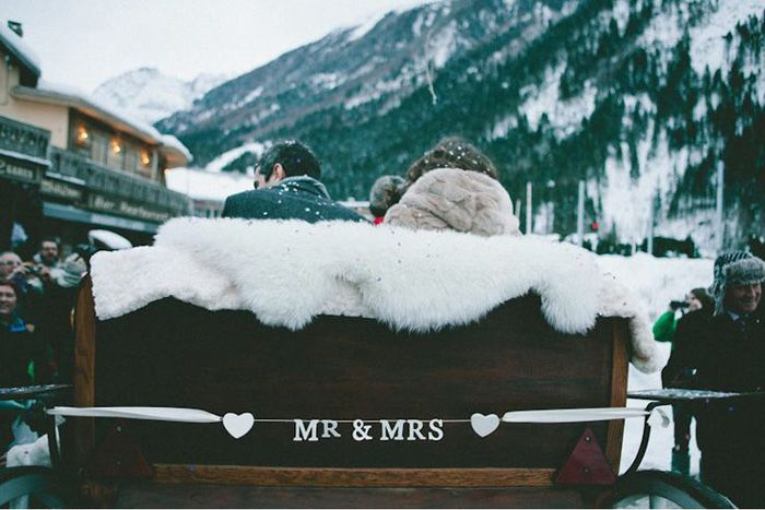 For Couples Who Love Winter: Beautiful Chamonix-Mont-Blanc, France is one of the oldest ski resorts in France and one of the most picturesque locations you can imagine for a wedding