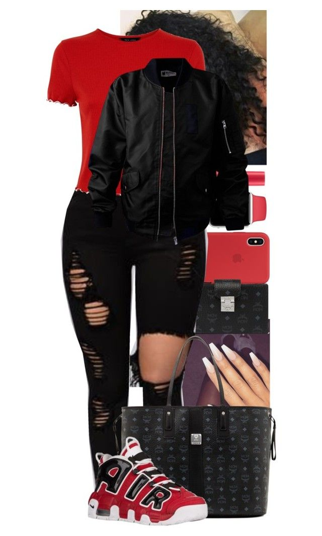 """2/9/18"" by sereniityyyyy ❤ liked on Polyvore featuring Victoria's Secret, MCM and NIKE"