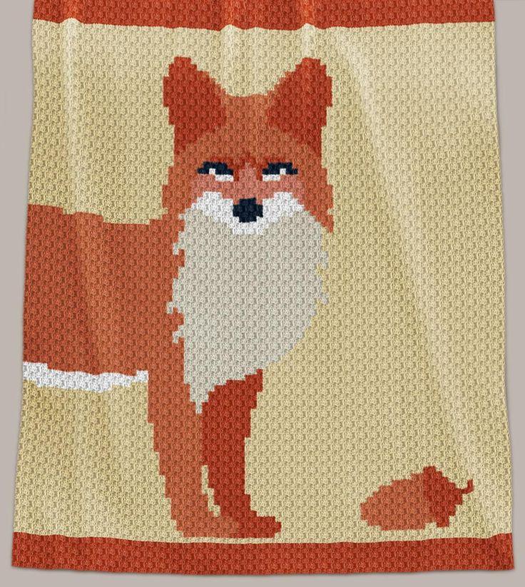 Crochet Pattern | Lap Blanket - Foxie - C2C (Row-by-Row)
