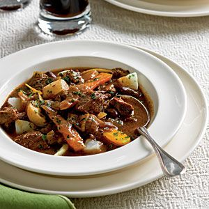 Beef and Guinness Stew | I have never cooked with some of the root vegetables in this one but am open to trying them out. Turnips and parsnips will be a new ingredient for me but I will probably pass on the caraway seeds. Not a fan.