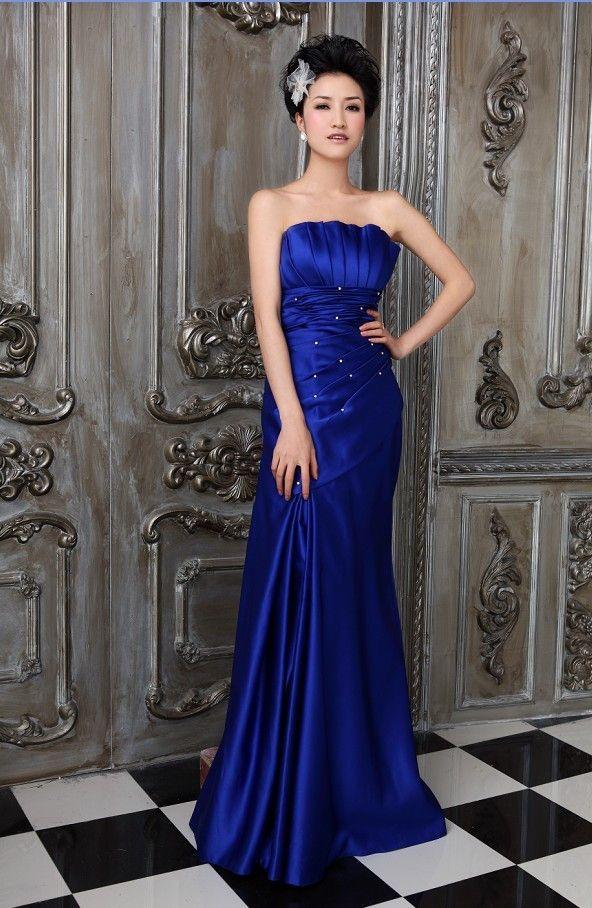 Den fortryllende Bra blå festkjoler online