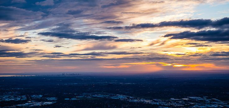 Melbourne sunset - from Mt Dandenong