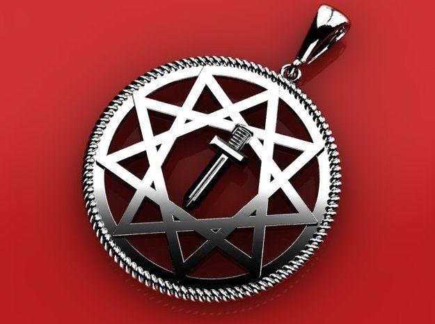Pendant Racial Simbol in Premium Silver