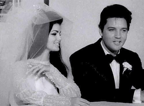 Black And White Music Vintage Wedding Romantic Elvis Elvis Presley  Priscilla Presley