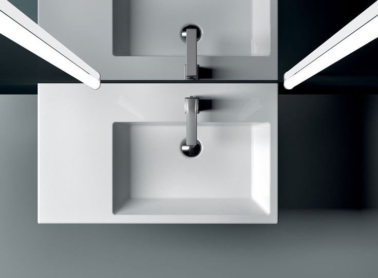 GSI ceramic | KUBE 80, in the medium-sized washbasin segment, comes in three forms: symmetrical, asymmetrical right and asymmetrical left.