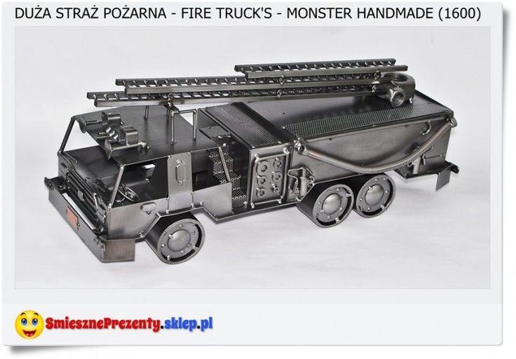 Bardzo duży model samochodu strażackiego Polskie rękodzieło