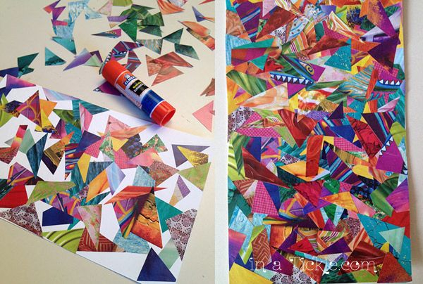 paper collage art ideas