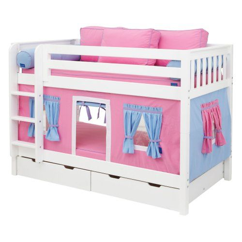 Hot Shot Girl Twin over Twin Tent Bunk Bed - Kids Trundle Beds at Hayneedle