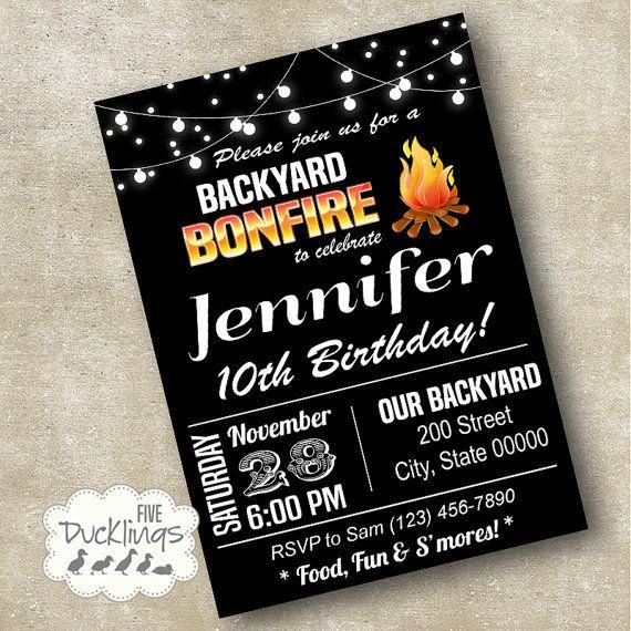 best bonfire birthday party ideas on   bonfire, invitation samples