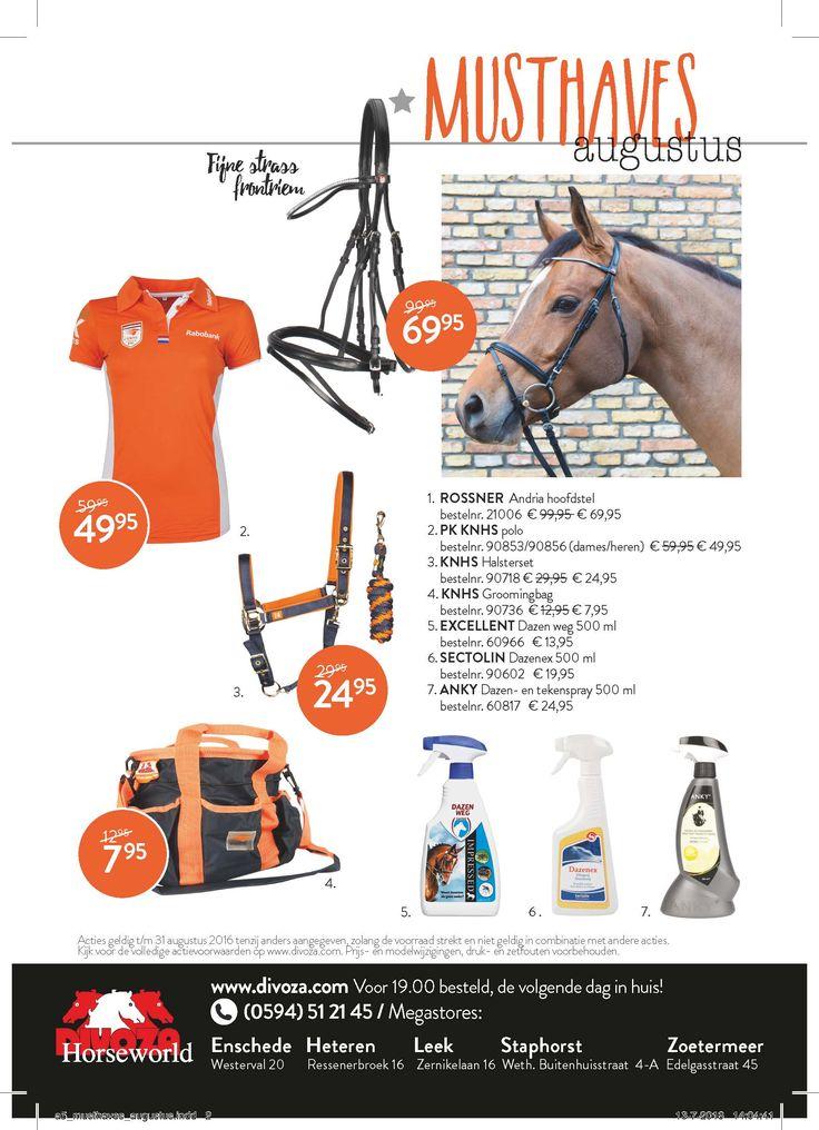 #musthaves #augustus Deze maand staat volop in het teken van de #olympischespelen Steun het #nederlandse team met een mooi #oranje item! www.divoza.com