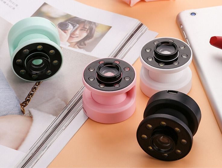 Mini 10X Zoom Óptico Câmera Len Grande Angular Olho de Peixe Macro lente com selfie flash luz reachargeable para iphone samsung sony htc